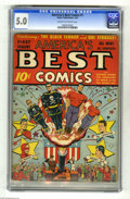 Golden Age (1938-1955):Superhero, America's Best Comics #1 (Nedor Publications, 1942) CGC VG/FN 5.0 Cream to off-white pages. This first issue doesn't turn up...