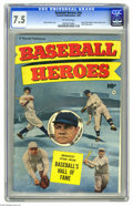 Golden Age (1938-1955):Non-Fiction, Baseball Heroes #nn (Fawcett, 1952) CGC VF- 7.5 Off-white pages.This one-shot features biographies of the greats enshrined ...