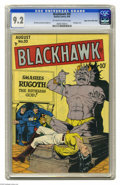 Golden Age (1938-1955):War, Blackhawk #20 Mile High pedigree (Quality, 1948) CGC NM- 9.2Off-white to white pages. In the postwar era, Blackhawk didn't ...
