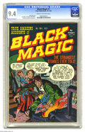 Golden Age (1938-1955):Horror, Black Magic #1 (Prize, 1950) CGC NM 9.4 Cream to off-white pages.Jack Kirby was simply the best in the business -- look wha...