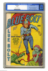 Blue Bolt #1 (Novelty Press, 1940) CGC GD 2.0 Cream to off-white pages. Origin of Blue Bolt by Joe Simon. First appearan...