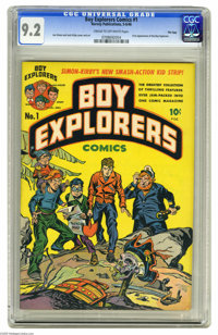 Boy Explorers #1 File Copy (Harvey, 1946) CGC NM- 9.2 Cream to off-white pages. Having created successful kid groups for...