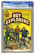 Golden Age (1938-1955):Adventure, Boy Explorers #1 (Harvey, 1946) CGC FN 6.0 Cream to off-white pages. First appearance of the Boy Explorers. Simon and Kirby ...