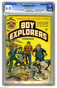 Boy Explorers #1 (Harvey, 1946) CGC FN 6.0 Cream to off-white pages. First appearance of the Boy Explorers. Simon and Ki...