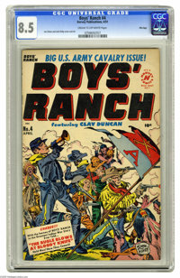 Boys' Ranch #4 File Copy (Harvey, 1951) CGC VF+ 8.5 Cream to off-white pages. Simon and Kirby art. Overstreet 2005 VF 8...