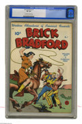 Golden Age (1938-1955):Western, Brick Bradford #7 (Better Publications, 1949) CGC VF 8.0 Off-white to white pages. Golden Age Western title. Cover by Alex S...