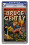 Golden Age (1938-1955):Adventure, Bruce Gentry #2 (Superior, 1948) CGC NM+ 9.6 Off-white pages. Bruce gets busy saving a busty babe from burning wreckage on t...