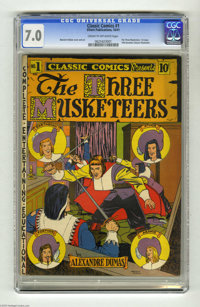 Classic Comics #1 The Three Musketeers (Elliott, 1941) CGC FN/VF 7.0 Cream to off-white pages. This is the Original Edit...
