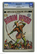 Golden Age (1938-1955):Classics Illustrated, Classic Comics #7 Robin Hood (Gilberton, 1942) CGC FN- 5.5 Off-white pages. Original edition (HRN 6). Overstreet 2005 FN 6.0...