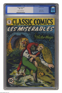 Classic Comics #9 Les Miserables (Gilberton, 1943) CGC VF+ 8.5 Cream to off-white pages. This is the original edition in...