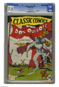 Golden Age (1938-1955):Classics Illustrated, Classic Comics #11 Don Quixote (Gilberton, 1943) CGC VF- 7.5 Off-white pages. Original edition. Overstreet 2005 VF 8.0 value...