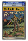 Golden Age (1938-1955):Miscellaneous, Classic Comics #26 Frankenstein (Gilberton, 1945) CGC VF- 7.5 Off-white to white pages. This is the Original Edition of this...
