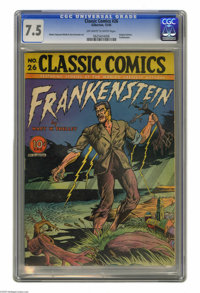 Classic Comics #26 Frankenstein (Gilberton, 1945) CGC VF- 7.5 Off-white to white pages. This is the Original Edition of...