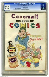 Cocomalt Big Book of Comics #1 (Chesler, 1938) CGC FN/VF 7.0 Off-white pages. This promotional comic received a scarcity...