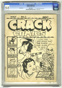 Crack Comics #1 Ashcan Edition (Quality, 1940) CGC VG 4.0 White pages. Ashcans are hand-produced comics made for purpose...