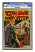 Golden Age (1938-1955):Crime, Crime Reporter #3 Mile High pedigree (St. John, 1948) CGC NM- 9.2 Off-white to white pages. This gem from the Mile High coll...