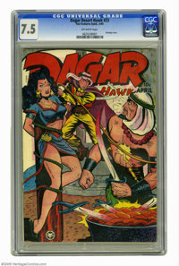 Dagar, Desert Hawk #23 (Fox Features Syndicate, 1949) CGC VF- 7.5 Off-white pages. Bondage cover. Overstreet 2005 VF 8.0...