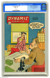 Dynamic Comics #17 Mile High pedigree (Chesler, 1946) CGC NM- 9.2 White pages. This series from the house of Chesler sta...