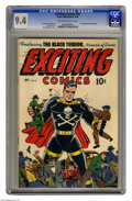 Golden Age (1938-1955):Superhero, Exciting Comics #51 (Nedor Publications, 1946) CGC NM 9.4. The Black Terror got to grow to enormous proportions on this cove...