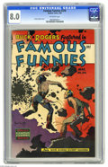 Golden Age (1938-1955):Science Fiction, Famous Funnies #216 (Eastern Color, 1955) CGC VF 8.0 Off-whitepages. Buck Rogers never looked more spectacular than on the ...
