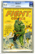 Golden Age (1938-1955):Superhero, Fight Comics #12 (Fiction House, 1941) CGC NM 9.4 Cream to off-white pages. Wow. While we love Dan Zolnerowich's covers in g...