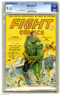 Fight Comics #12 (Fiction House, 1941) CGC NM 9.4 Cream to off-white pages. Wow. While we love Dan Zolnerowich's covers...