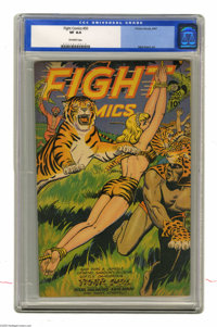 Fight Comics #50 (Fiction House, 1947) CGC VF 8.0 Off-white pages. Joe Doolin cover. Matt Baker art. Overstreet 2005 VF...