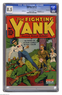 Fighting Yank #1 Pennsylvania pedigree (Nedor Publications, 1942) CGC VF+ 8.5 Off-white to white pages. Having proven hi...