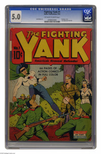 Fighting Yank #1 (Nedor Publications, 1942) CGC VG/FN 5.0 Off-white to white pages. This premiere issue features art by...