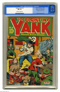 Fighting Yank #10 Mile High pedigree (Nedor Publications, 1944) CGC NM 9.4 Off-white to white pages. This Alex Schomburg...