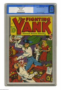 Fighting Yank #17 (Nedor Publications, 1946) CGC VF+ 8.5 Cream to off-white pages. The war may have been over, but the F...