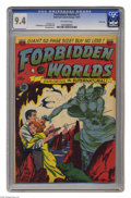 Golden Age (1938-1955):Science Fiction, Forbidden Worlds #1 River City pedigree (ACG, 1951) CGC NM 9.4Off-white pages. How's this for a dream team: Frank Frazetta ...