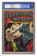 "Golden Age (1938-1955):Science Fiction, Forbidden Worlds #1 (ACG, 1951) CGC VG+ 4.5 Light tan to off-whitepages. Al Williamson and Frank Frazetta art. CGC notes, ""..."