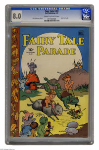 Four Color #69 Fairy Tale Parade (Dell, 1945) CGC VF 8.0 Cream to off-white pages. Walt Kelly cover and art. Overstreet...