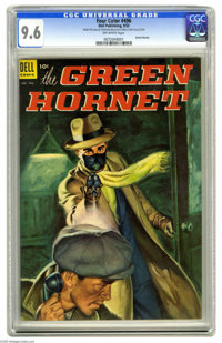 Four Color #496 The Green Hornet (Dell, 1953) CGC NM+ 9.6 Off-white pages. The Green Hornet made his Dell debut in this...