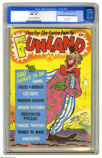 Funland #nn (Ziff-Davis, 1952) CGC NM- 9.2 Cream to off-white pages. If you've never seen this one before, join the club...