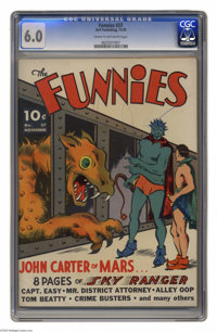 Funnies #37 (Dell, 1939) CGC FN 6.0 Cream to off-white pages. This is the first time we've seen this issue here at Herit...
