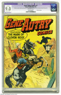 Golden Age (1938-1955):Western, Gene Autry Comics #1 (Fawcett, 1941) CGC Apparent VF/NM 9.0Extensive (P) Off-white pages. This is ranked as the most valuab...