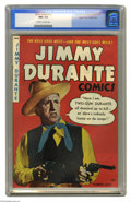 """Golden Age (1938-1955):Humor, Jimmy Durante #2 Mile High pedigree (Magazine Enterprises, 1948) CGC NM+ 9.6 Off-white to white pages. Sinatra sang, """"and Ja..."""