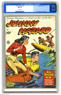 Golden Age (1938-1955):Adventure, Johnny Hazard #7 (King Features Syndicate, 1949) CGC NM 9.4 Off-white pages. New stories, not reprints. Overstreet 2005 NM- ...