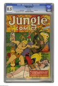Golden Age (1938-1955):Adventure, Jungle Comics #7 (Fiction House, 1940) CGC VF+ 8.5 White pages. Bob Powell drew this issue's bondage cover featuring Kaanga ...