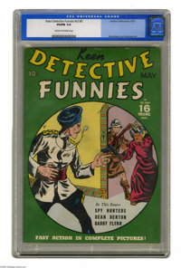 Keen Detective Funnies V2#5 (Centaur, 1939) CGC VG/FN 5.0 Cream to off-white pages. Paul Gustavson and Fred Guardineer a...