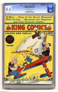 Platinum Age (1897-1937):Miscellaneous, King Comics #10 (David McKay Publications, 1937) CGC VG+ 4.5 Creamto off-white pages. This is the only copy that CGC has ce...