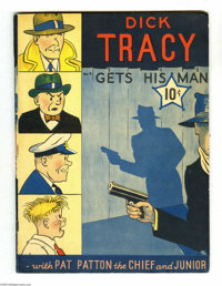 Large Feature Comic #4 Dick Tracy Gets His Man (Dell, 1939) Condition: Apparent FN. This second Dick Tracy comic book fe...