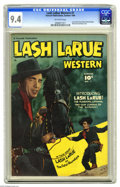 Golden Age (1938-1955):Western, Lash LaRue Western #1 (Fawcett, 1949) CGC NM 9.4 Off-white pages. Fawcett scored a coup by gaining the rights to publish the...