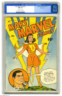 Mary Marvel Comics #1 Pennsylvania pedigree (Fawcett, 1945) CGC NM- 9.2 Off-white to white pages. Mary's first comic of...