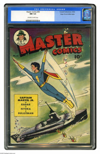 Master Comics #55 Mile High pedigree (Fawcett, 1944) CGC NM 9.4 Off-white to white pages. Though Mac Raboy was absent fo...