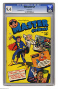 Golden Age (1938-1955):Superhero, Master Comics #130 (Fawcett, 1952) CGC NM 9.4 Off-white pages. Captain Marvel Jr., Tom Mix, and Nyoka the Jungle Girl are fe...