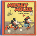 Platinum Age (1897-1937):Miscellaneous, Mickey Mouse Comic #4 (David McKay, 1934) Condition: FN/VF. Thisparticular issue of the brief series (called Mickey Mouse...