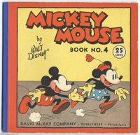Mickey Mouse Comic #4 (David McKay, 1934) Condition: FN/VF. This particular issue of the brief series (called Mickey Mou...